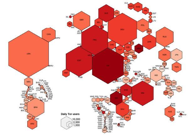 Карта использования Даркнета
