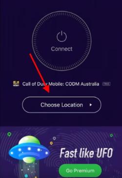 Нажмите на запуск VPN для Call of Duty Mobile