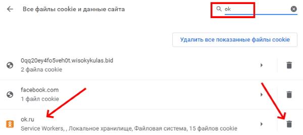 Удалите куки сайта Одноклассники