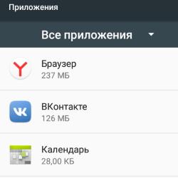 Все приложения в Андроид