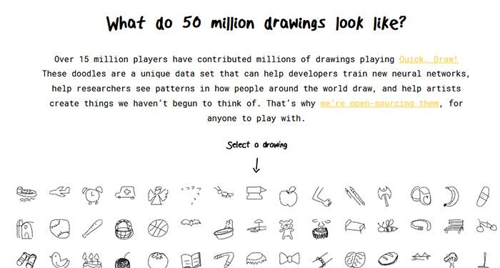 Рисунки в Quick Draw