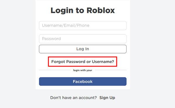 Forgot Password? восстановление пароля Роблокс