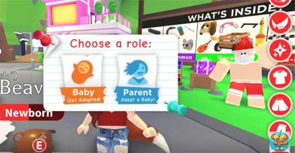 Выбор персонажа в Роблокс Adopt Me