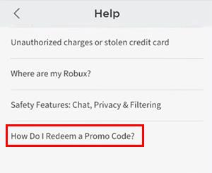 How do i redeem a promo code