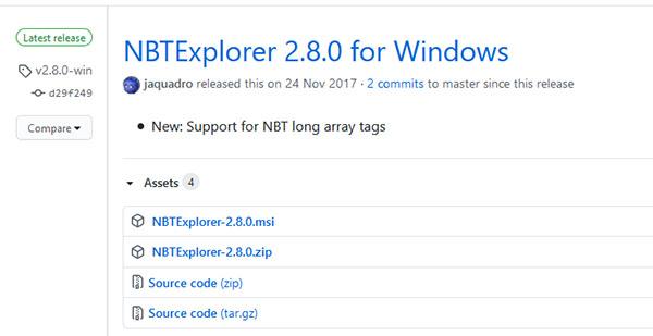 Программа для открытия NBT-файлов Майнкрафта