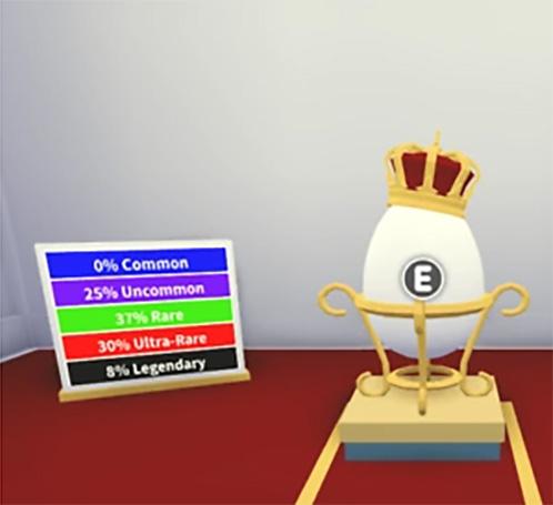 Королевское яйцо в Адопт Ми