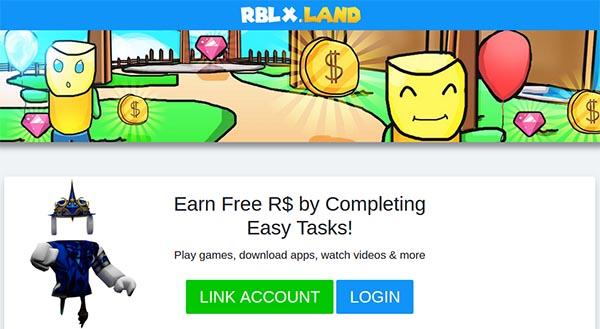 Авторизация на Rblx.land