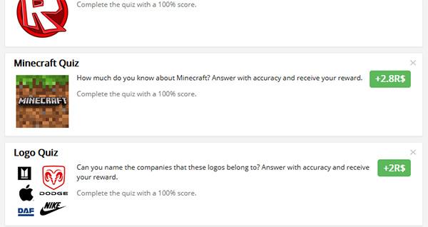 Тест на Quiz Diva на знание Майнкрафт