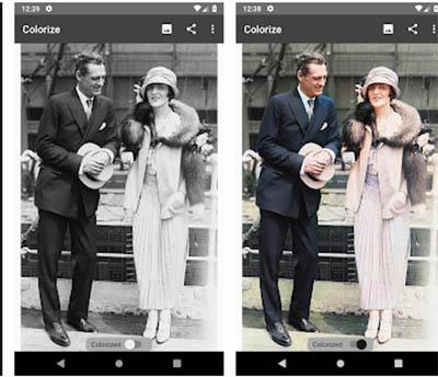 Colorise Images чёрно-белое фото