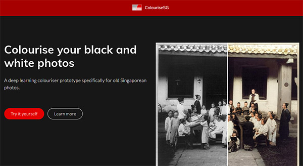 Нажмите Try it yourself для создания цветного фото из чёрно-белого фото