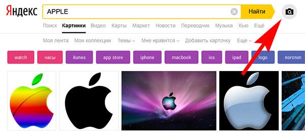 Поиск по картинкам в Яндекс в веб-браузере