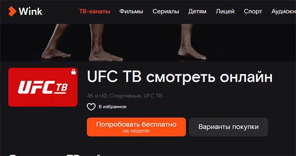 Бои UFC на Wink