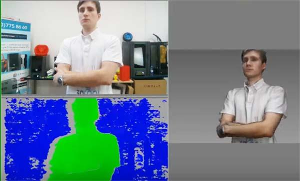 Сканирование человека роботом