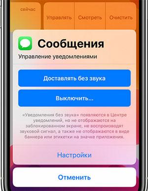 Настройка уведомлений IOS