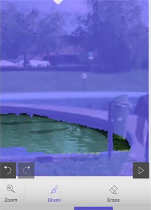 Закрасьте статическую область на фото