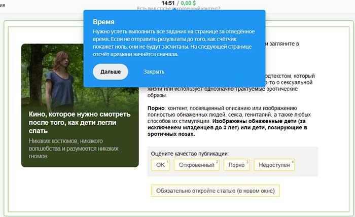 Задание в Яндекс Толока за доллары