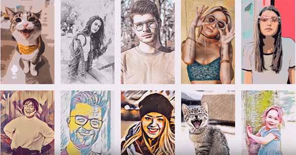 Нарисованные люди из фото