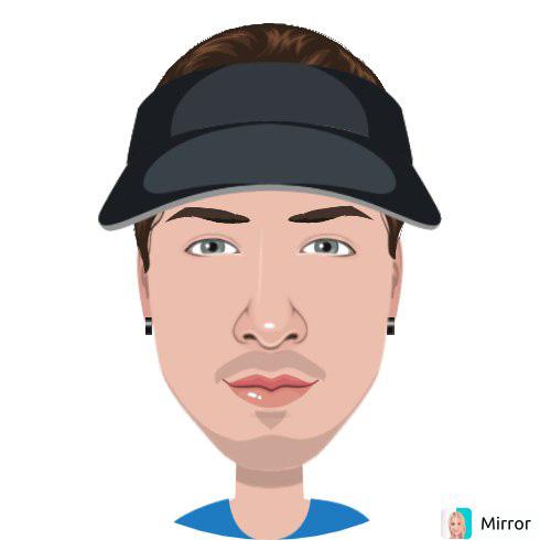Мультипликационное лицо для аватара