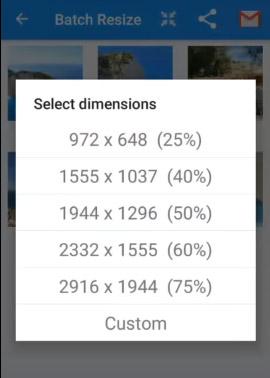 Выберите подходящий размер для фотографии