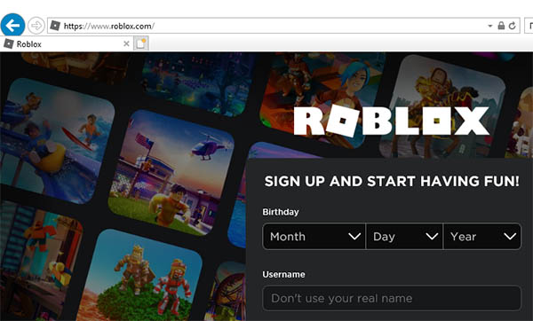 Roblox в Internet Explorer