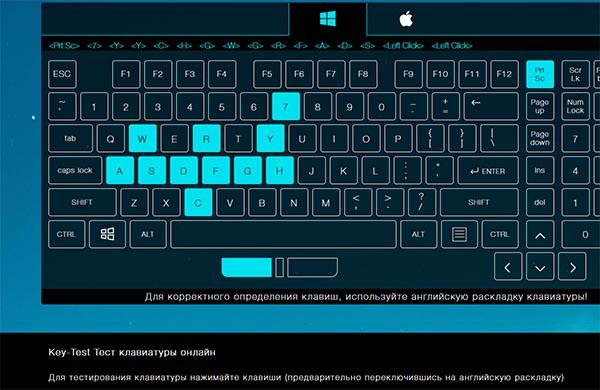 Онлайн-тест клавиатуры